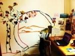 wall mural in living room